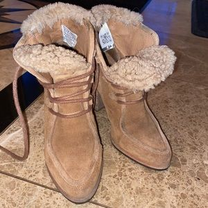 UGG leather winter heeled boots